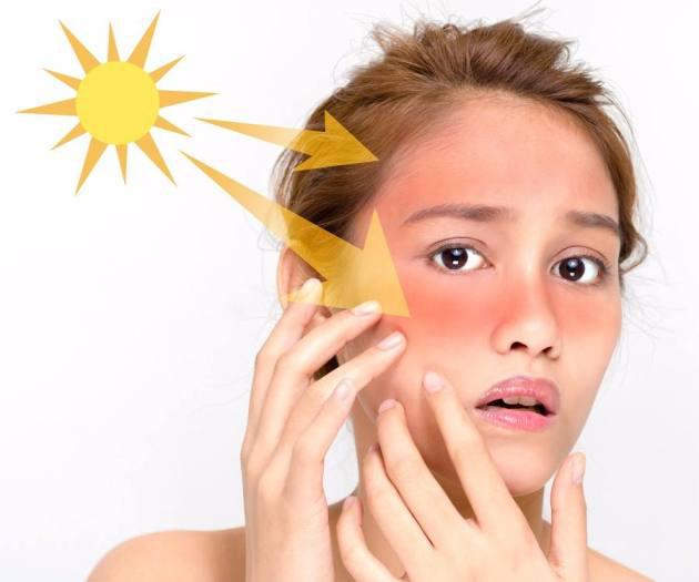 اثر نور خورشید بر پوست